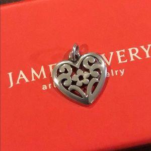 JA Floral Heart Charm